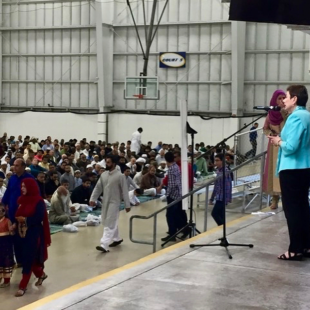Honored to celebrate with thousands of worshipers at #eidalfitr services, marking the end of #ramadan. Many thanks to the Islamic center of Maryland for inviting me to speak.