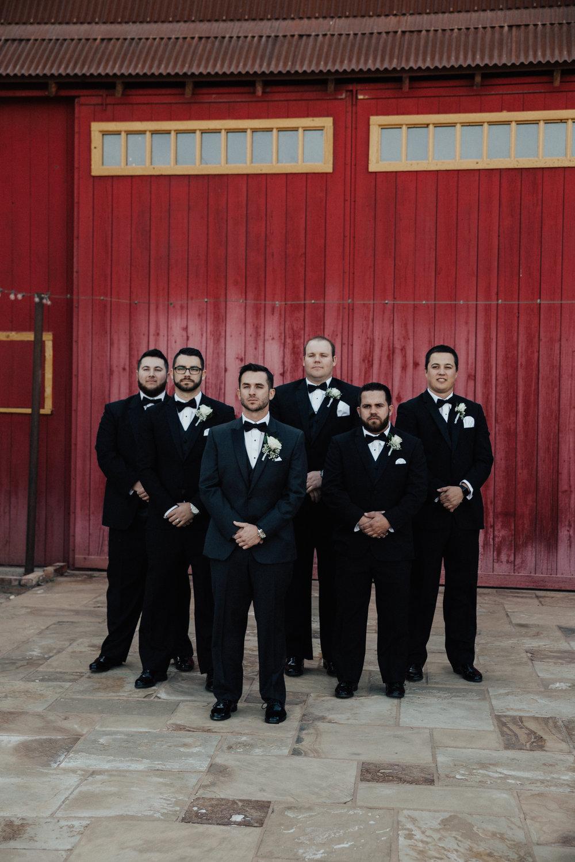 The groom, and groomsmen.