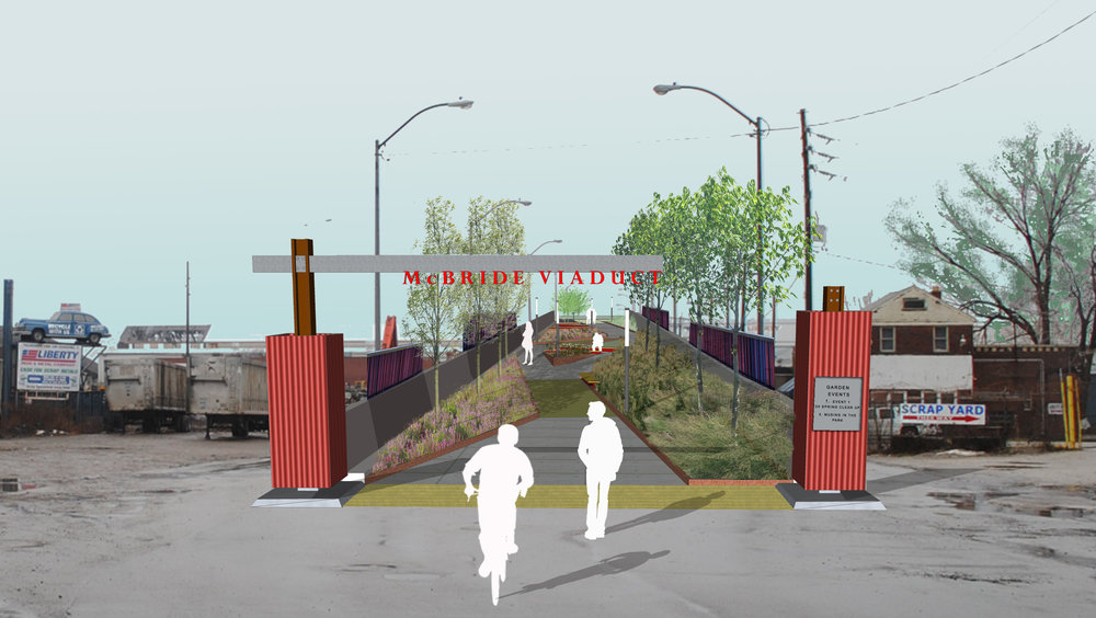Landscape Architect, Michael Beightol, envisions a south entrance for the #ErieViaduct.