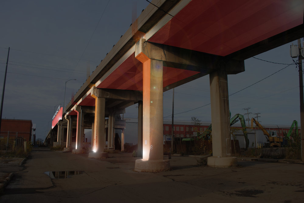 By simply lighting the Viaduct, as shown here in Micheal Beightol's rendering, the structure would become a beacon attracting a percentage of the 5M vehicles passing by on Rt.290 to check out the old bridge - and perhaps some of the businesses on East Ave.