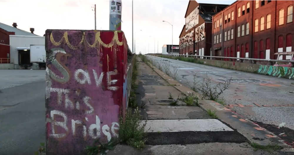 "Screen shot from Lisa Russell's film, ""An Erie Silence."""