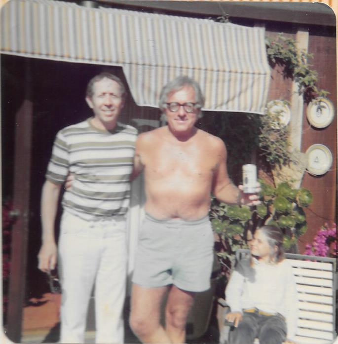 Sid Stebel and Ray Bradbury -- 1974