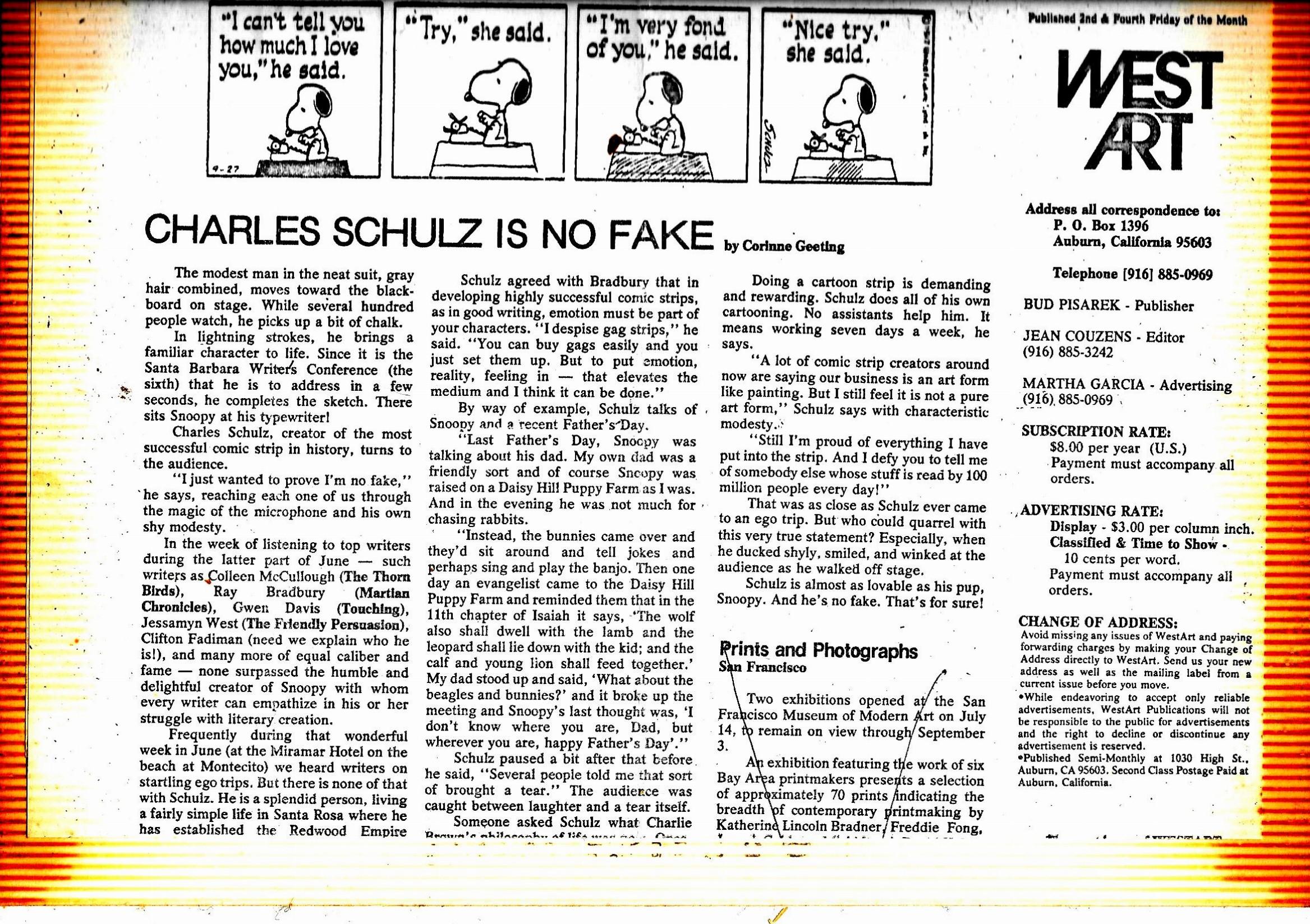 1978 Charles Schulz
