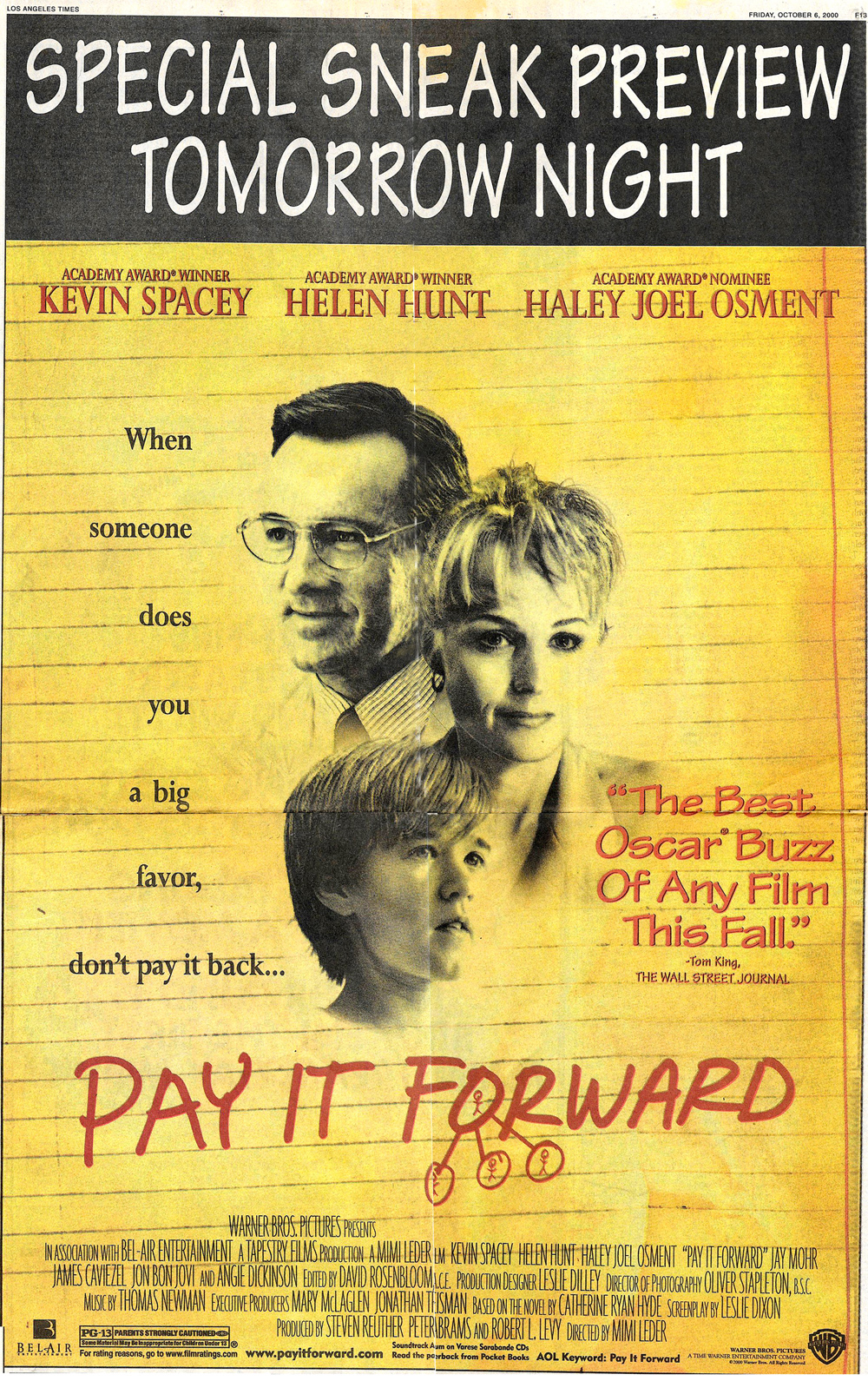 Pay It Forward Poster