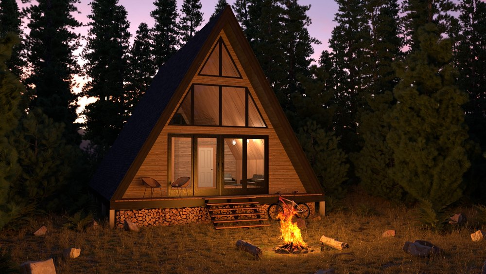 Forest Cabin Night View .jpg