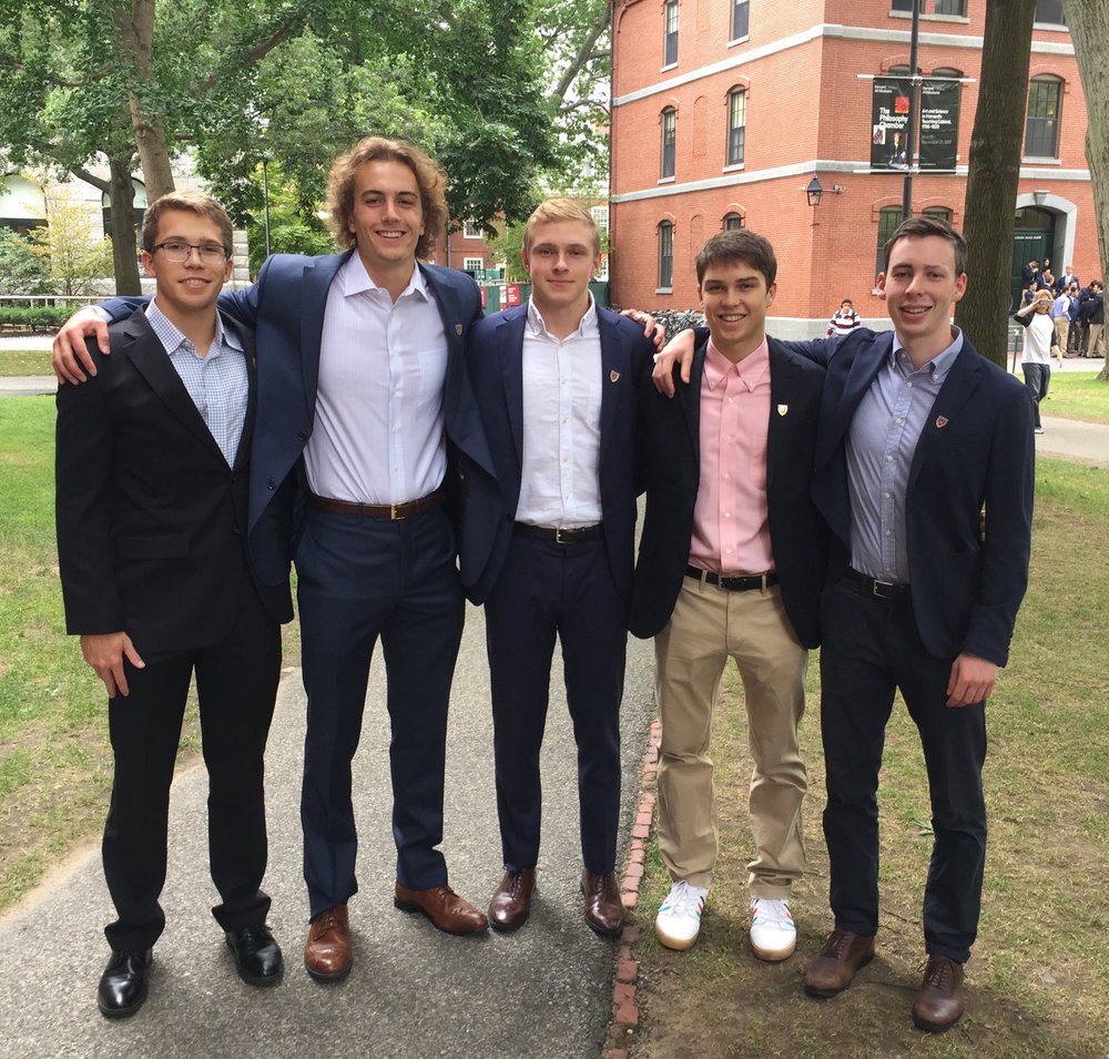 From left to right : Graham Friedman, Cameron Zahner, Alex Conrad, William McConnell, and Samuel Gould