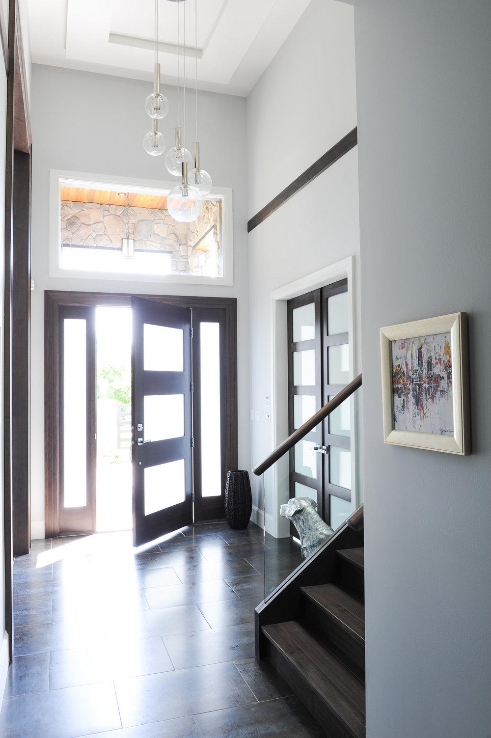 contemporary home entry door