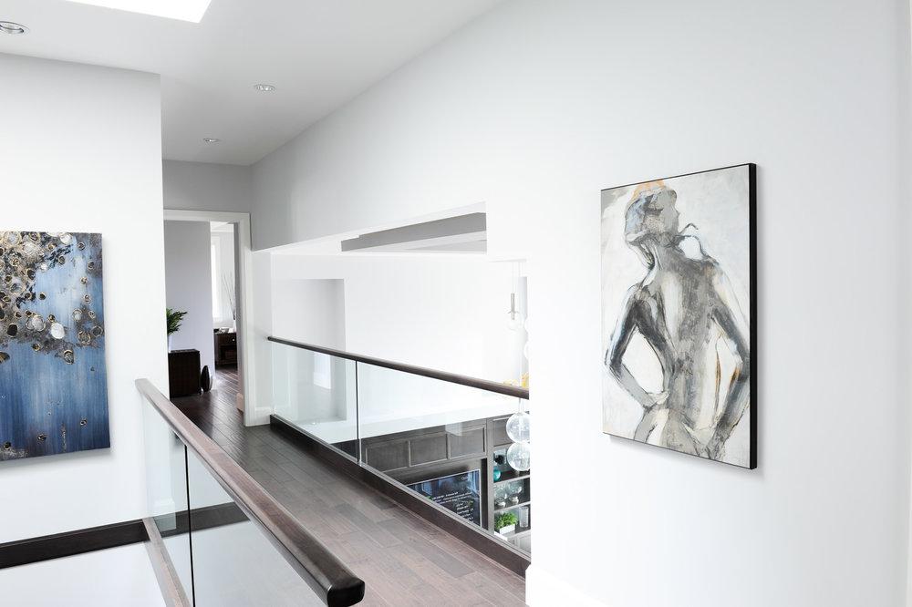contemporary home hallway
