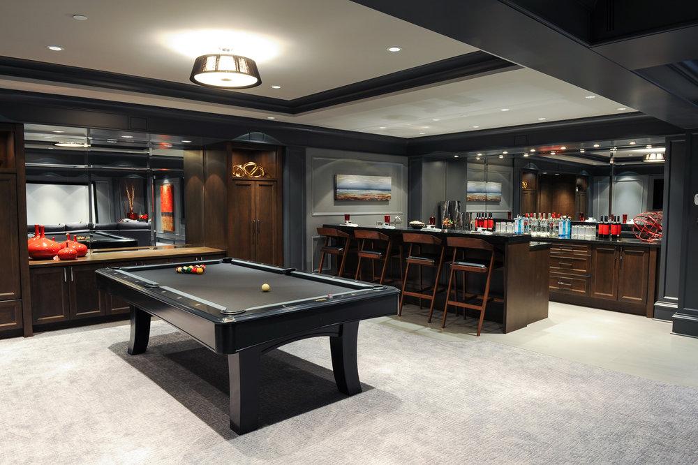 home bar and rec room