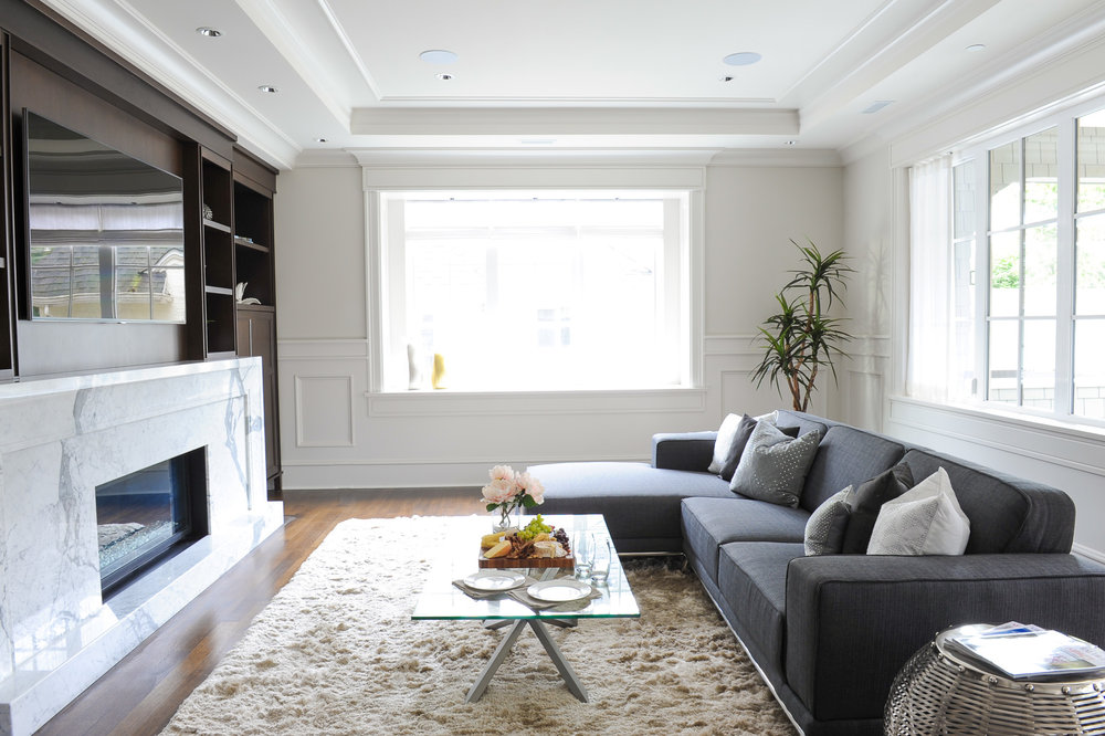 transitional family room
