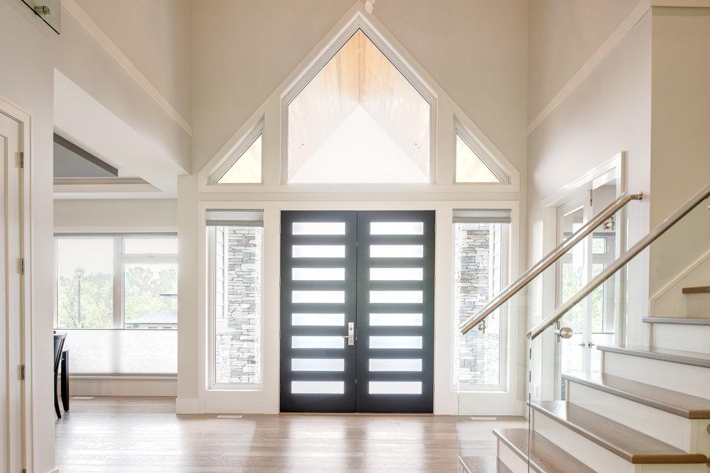 high ceiling entry