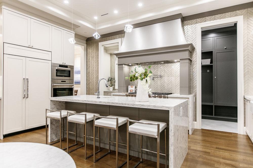 transitional kitchen