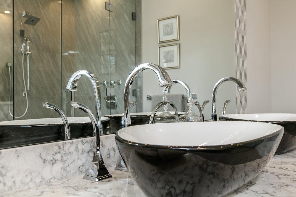 black bathroom vanity sink