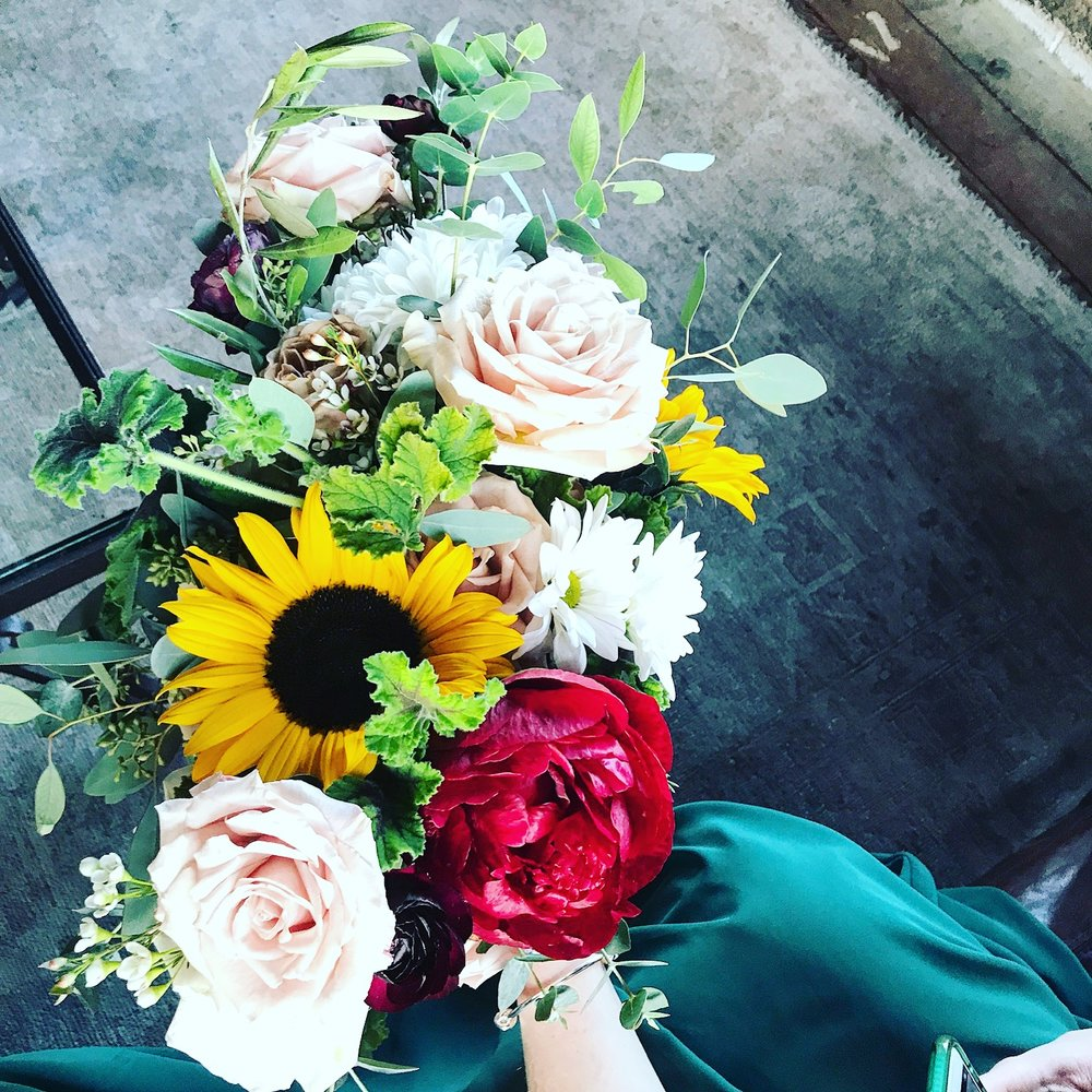 Yep, that's my wedding bouquet. I'm relentless, I know.