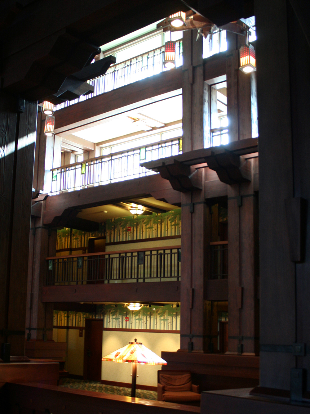 Main lobby railings.