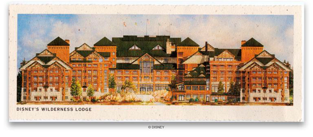 Faux-vintage postcard. Ⓒ Disney Enterprises, Inc.