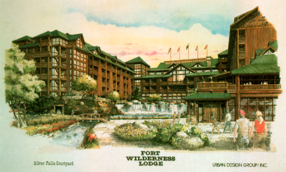 Concept rendering for the Wilderness Lodge. Ⓒ Urban Design Group, Inc.