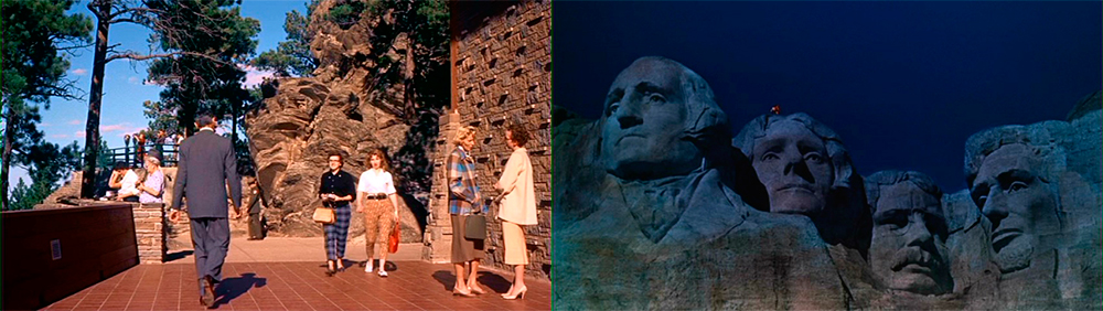 Actual location shot of the visitors center in the film. A matte painting of the monument from the film's finale.
