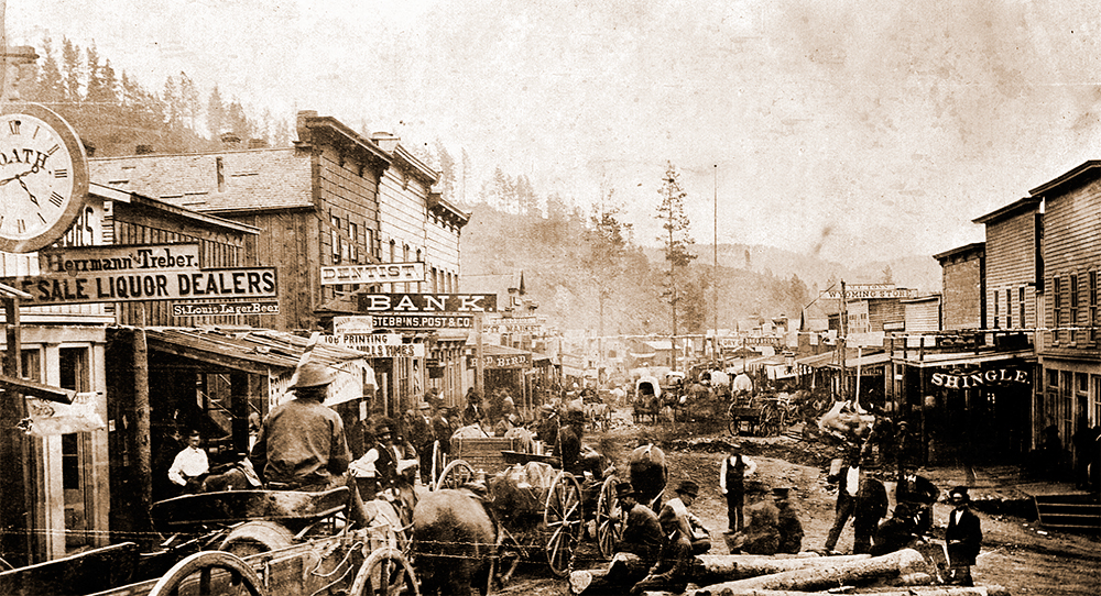 Deadwood in the second half of the 19th CEntury.
