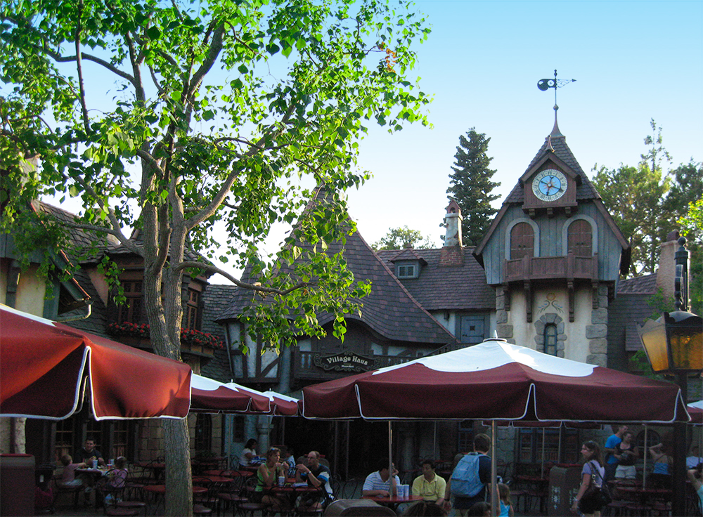 The 1983 redesign of  Fantasyland  at Disneyland, 2008.