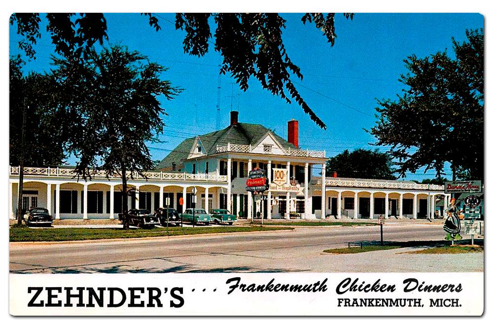Vintage postcard of Zehnder's.