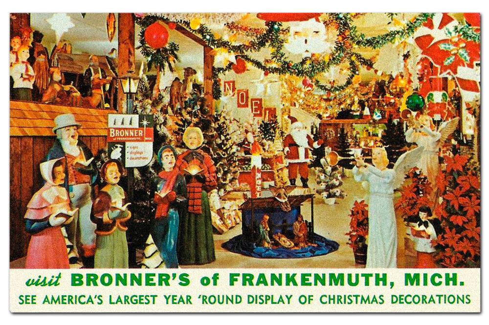 Vintage  Bronner's  postcard.