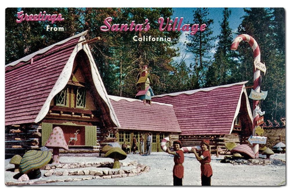 Vintage postcard of  Santa's Village , Lake Arrowhead, California.