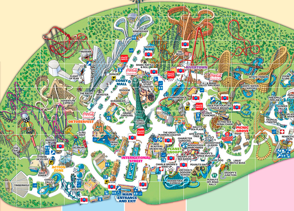 Kings Island 2017 park map.