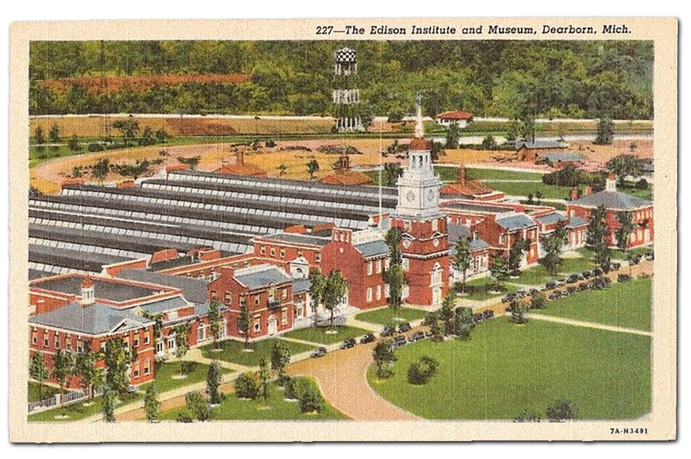 Vintage postcard, the Edison Institute.