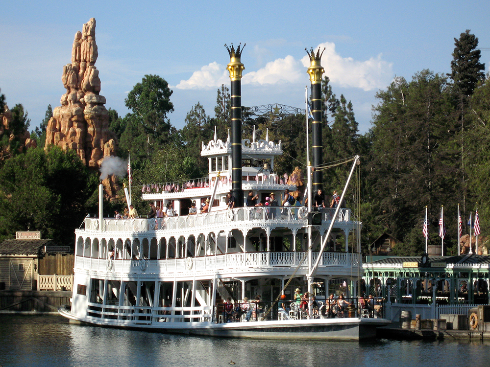 The  Mark Twain  Riverboat at Disneyland, 2008.