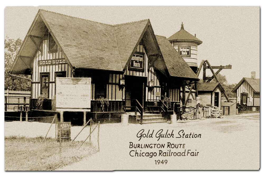 Vintage postcard, Chicago Railroad Fair.