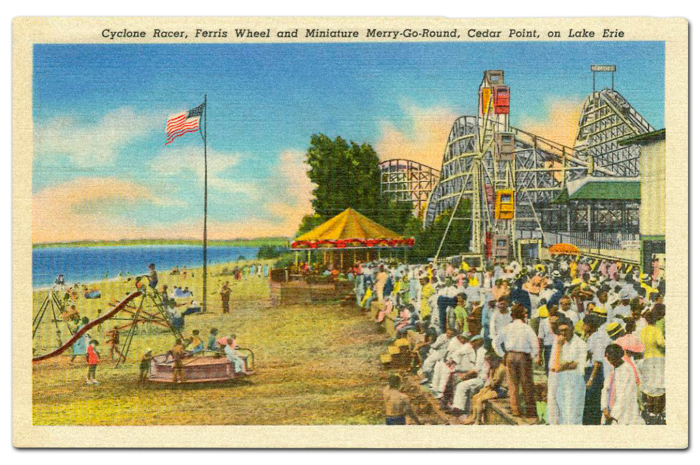 Vintage postcard, Cedar Point.