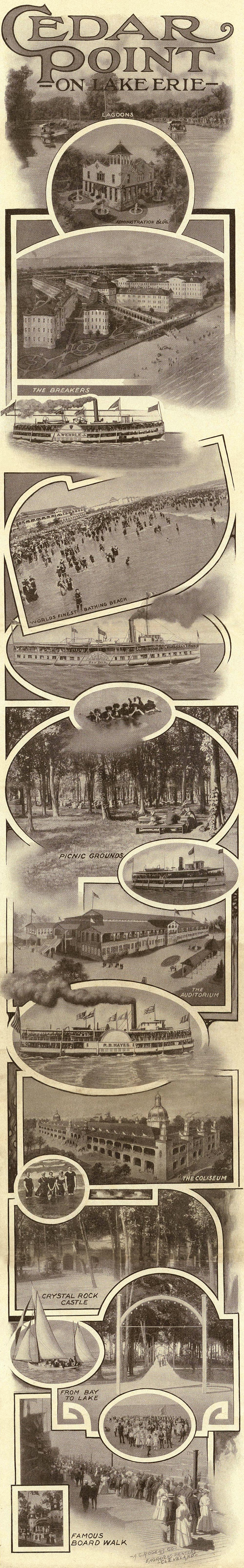 Cedar Point promotional booklet, 1909.