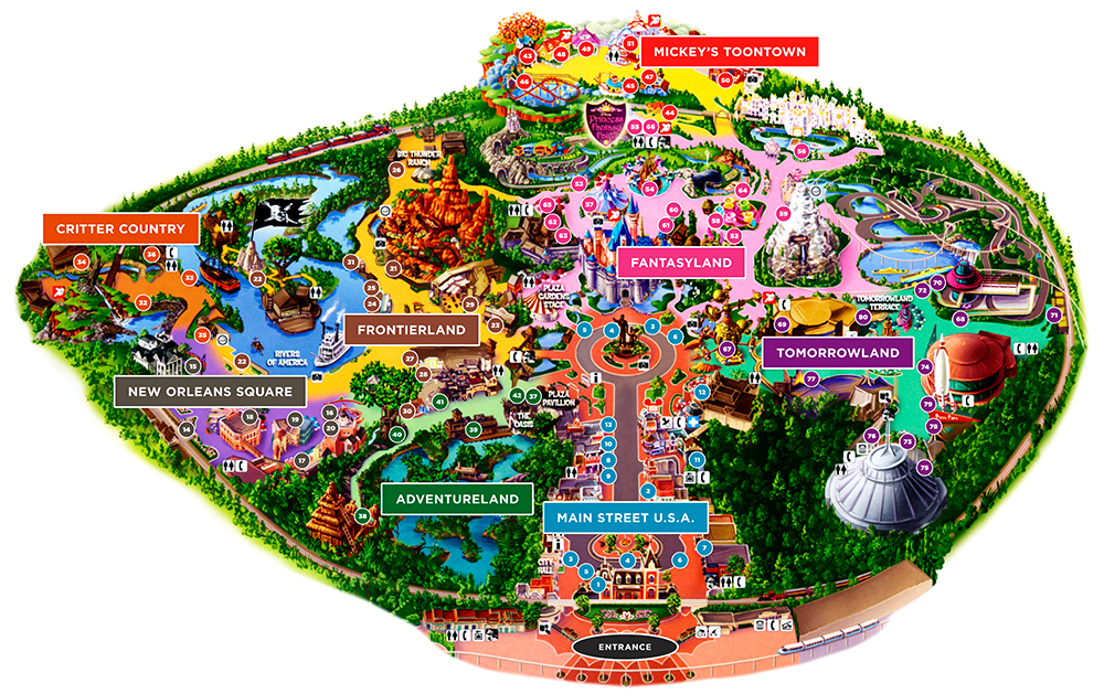 Disneyland park guide map, 2008.