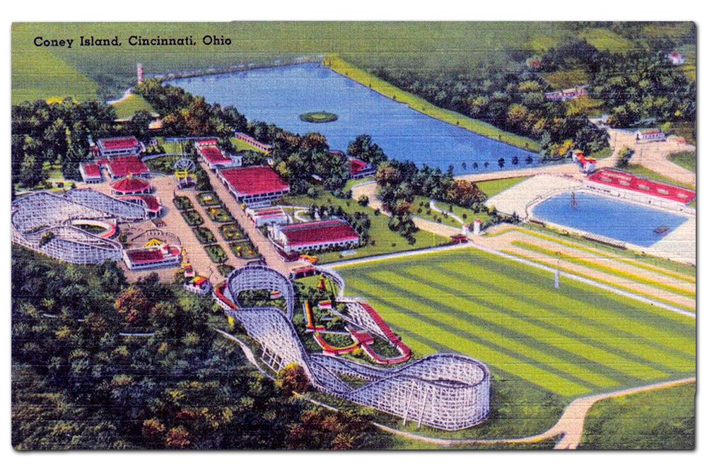 Vintage postcard, Cincinnati's Coney Island, 1926.