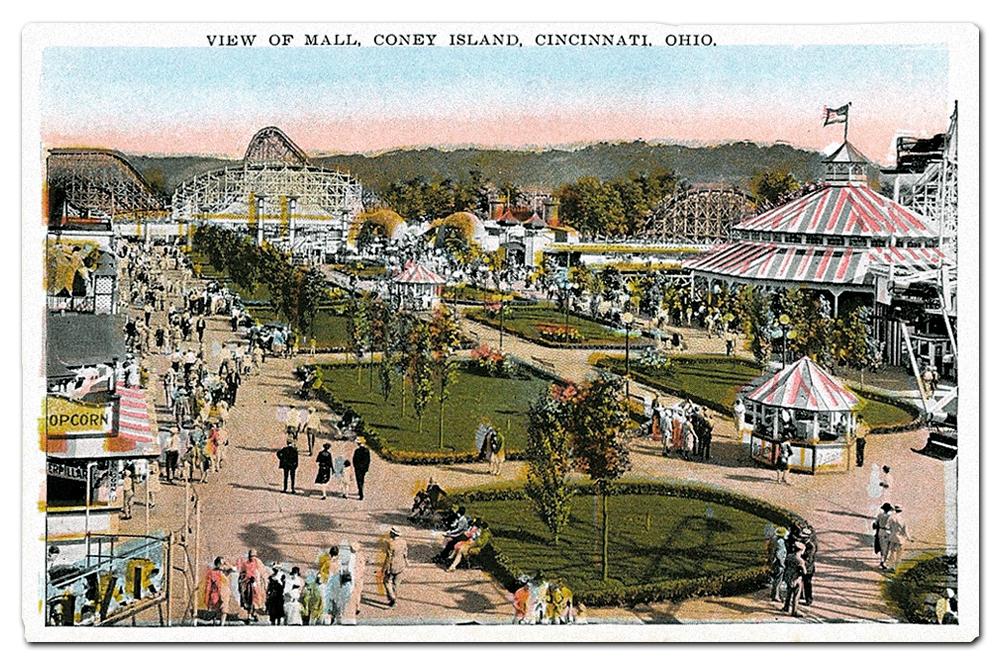 Vintage postcard, Cincinnati's Coney Island.