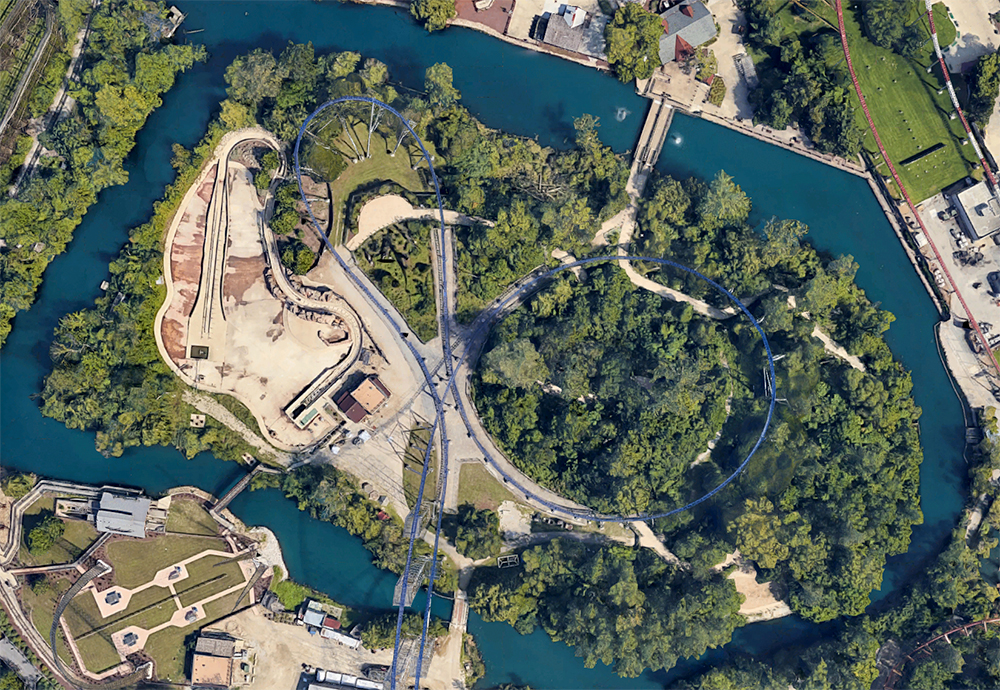 Adventure Island, satellite view.