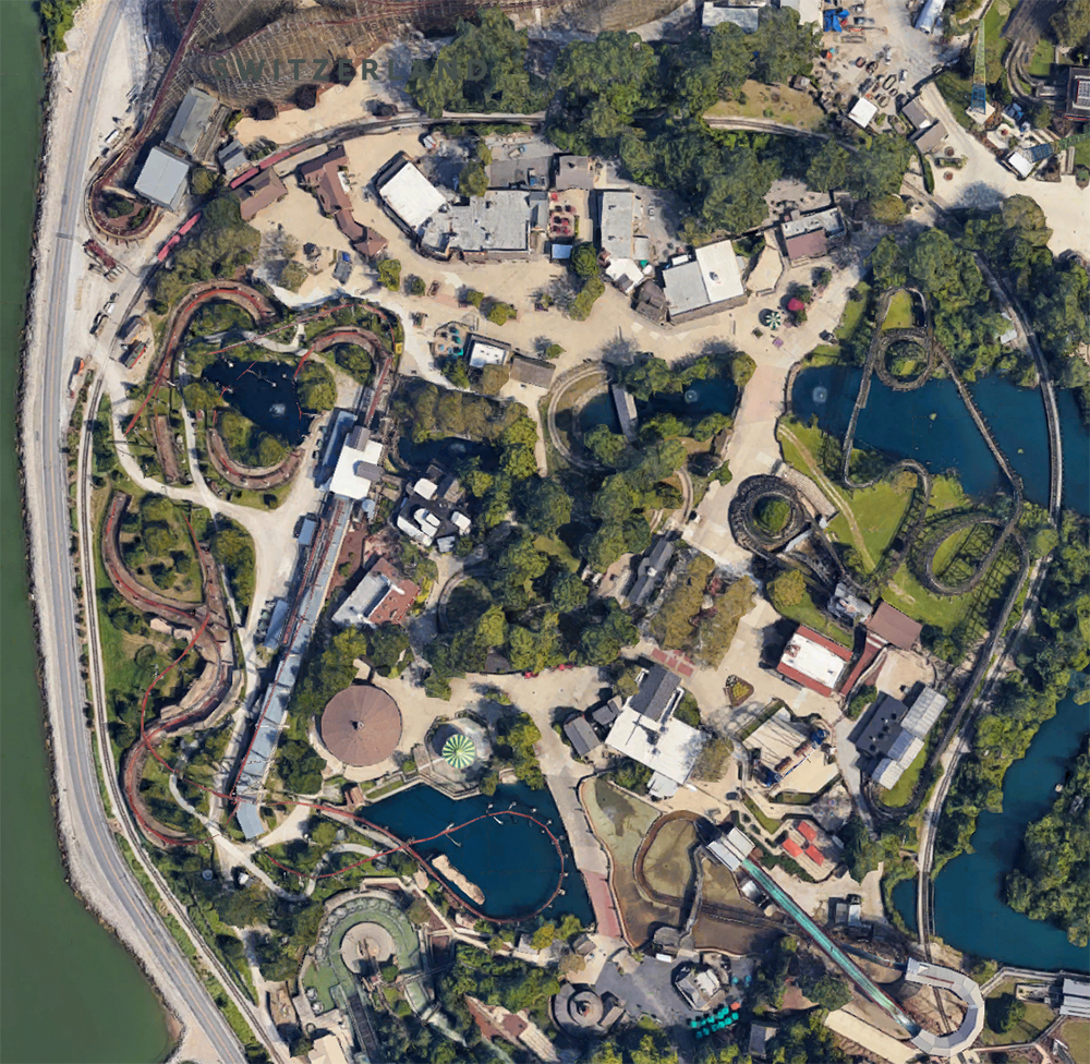 Frontier Town  area, satellite view.