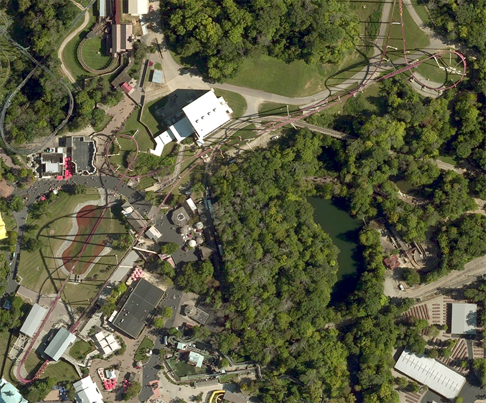 Rivertown  area, satellite view.