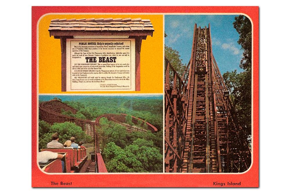 Vintage postcard,  The Beast .