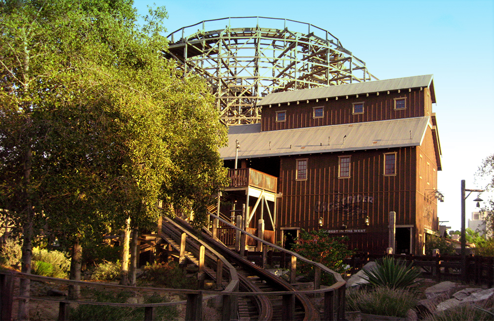 GhostRider  at Knott's Berry Farm, 2007.