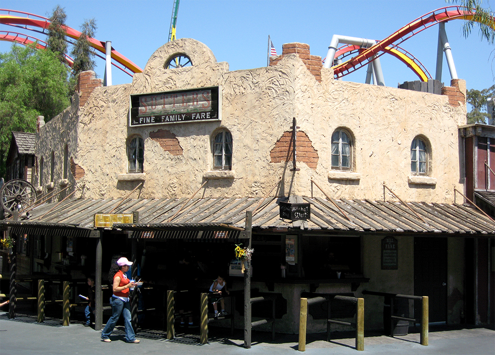 Silver Bullet  looms over  Ghost Town  at Knott's Berry Farm, 2007.