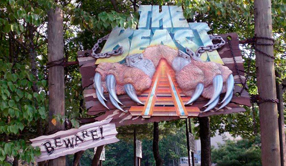 The original, much larger, logo sign for  The Beast .