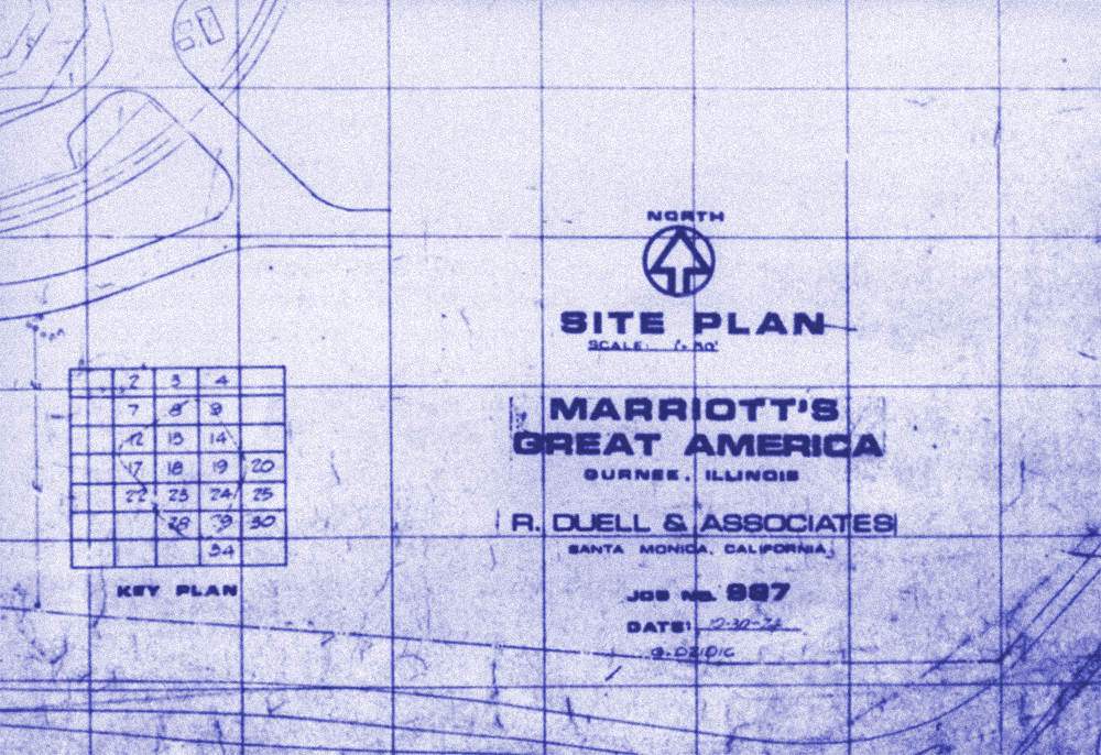 Blue-line site plan dated October 30, 1974.
