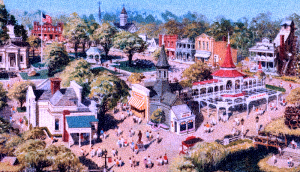 Concept painting of the  Hometown Square  area.