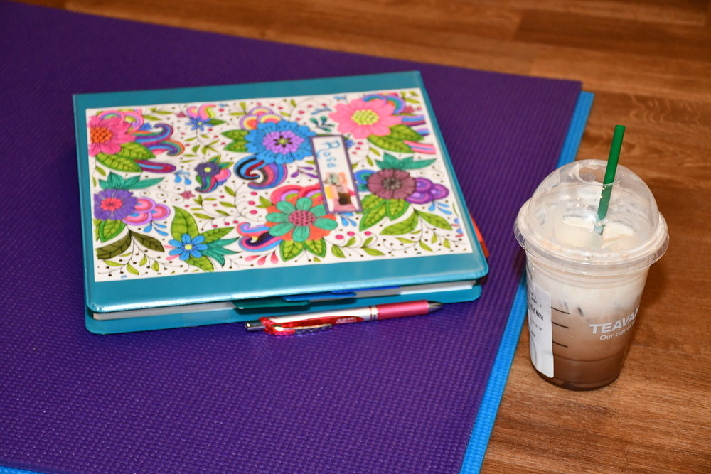 There's coffee and food nearby to fuel your learning in yoga teacher training.