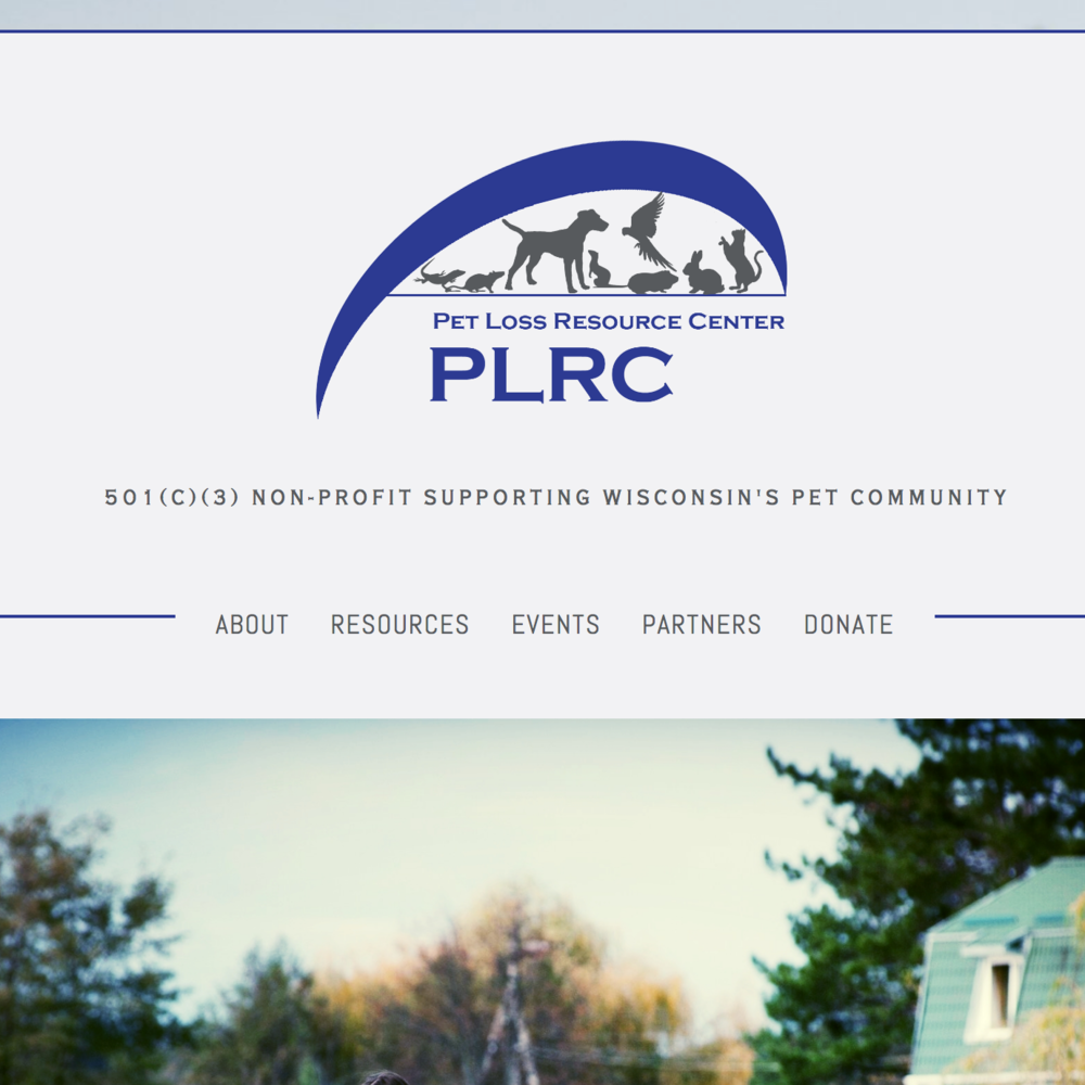 Pet Loss Resource Center Website Design