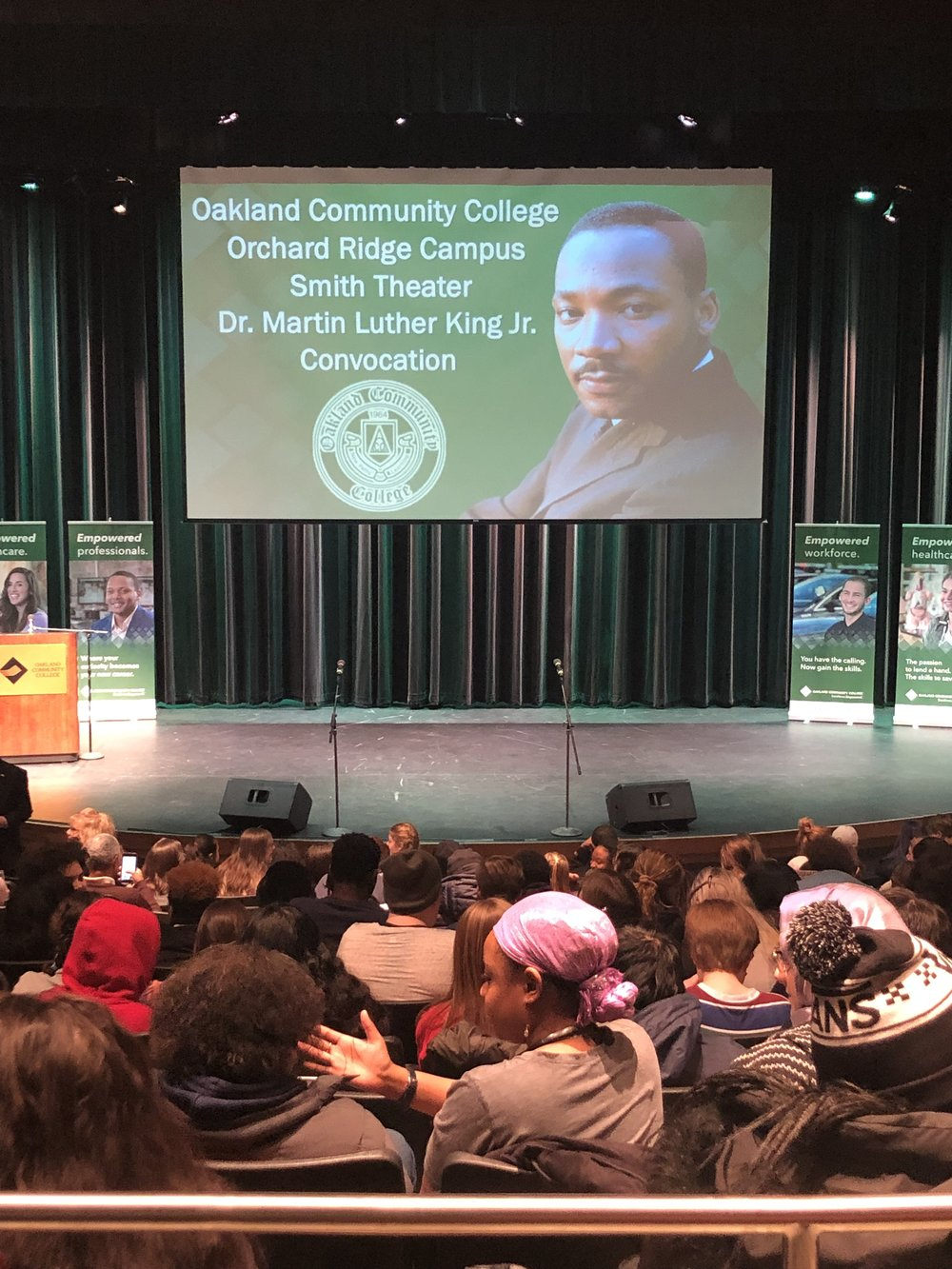 Let's Unite. Dr. Martin Luther King Jr. Convocation event at Oakland Community College, Farmington Hills campus