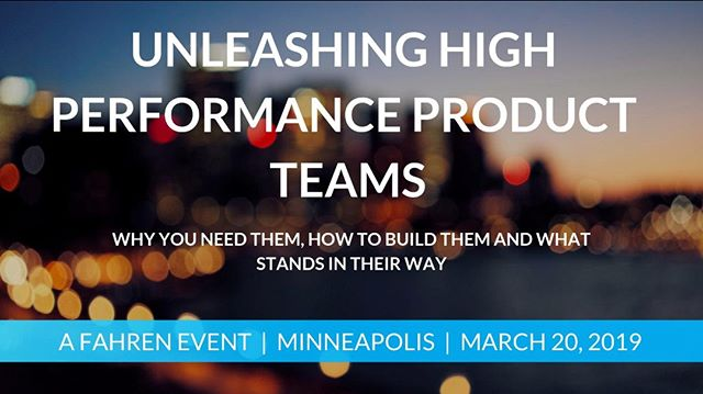 Fahren Presents: Unleashing High Performance Product Teams - March 20