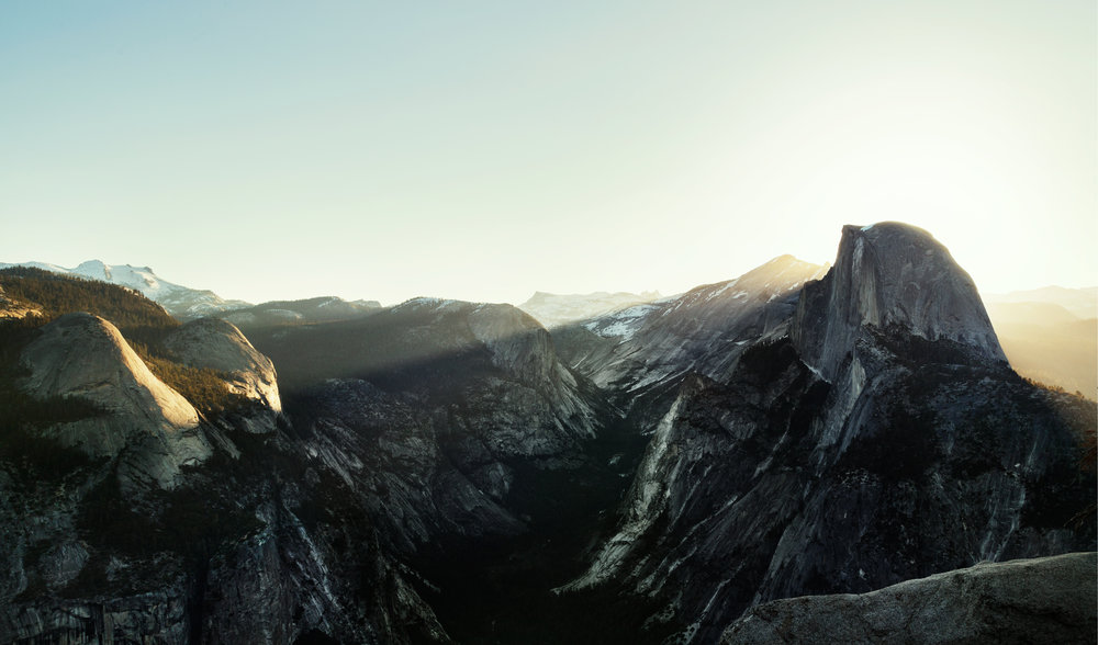 Sunrise over Half Dome